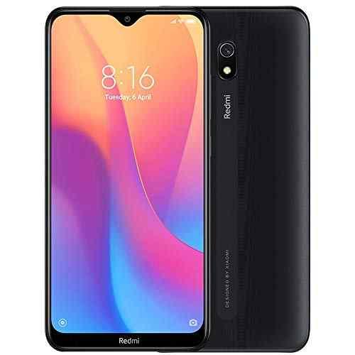 "Xiaomi Redmi 8A (32GB, 2GB RAM) 6.22\"" HD Display, Snapdragon 439, 5000mAh Battery, Dual SIM GSM Unlocked - US & Global 4G LTE International Version (Midnight Black, 32 GB)"